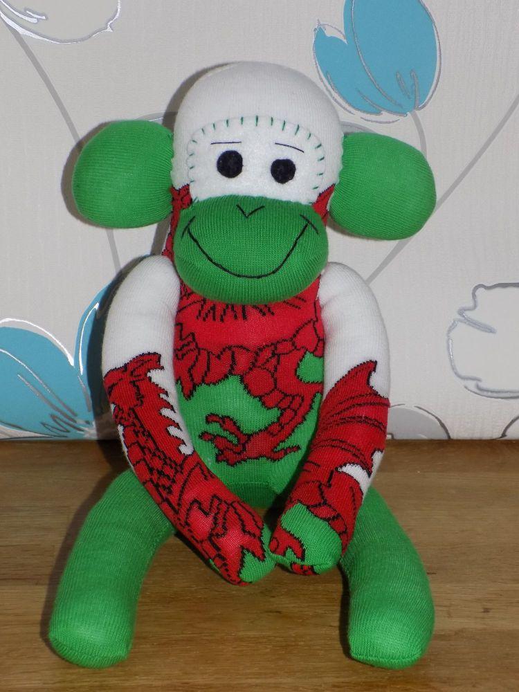 LARGE Welsh Sock Monkey