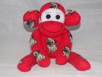 Sock Monkey Pug Dog design