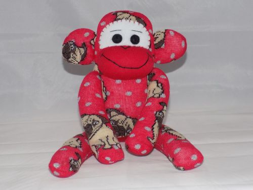 Sock Monkey Pug Dog design