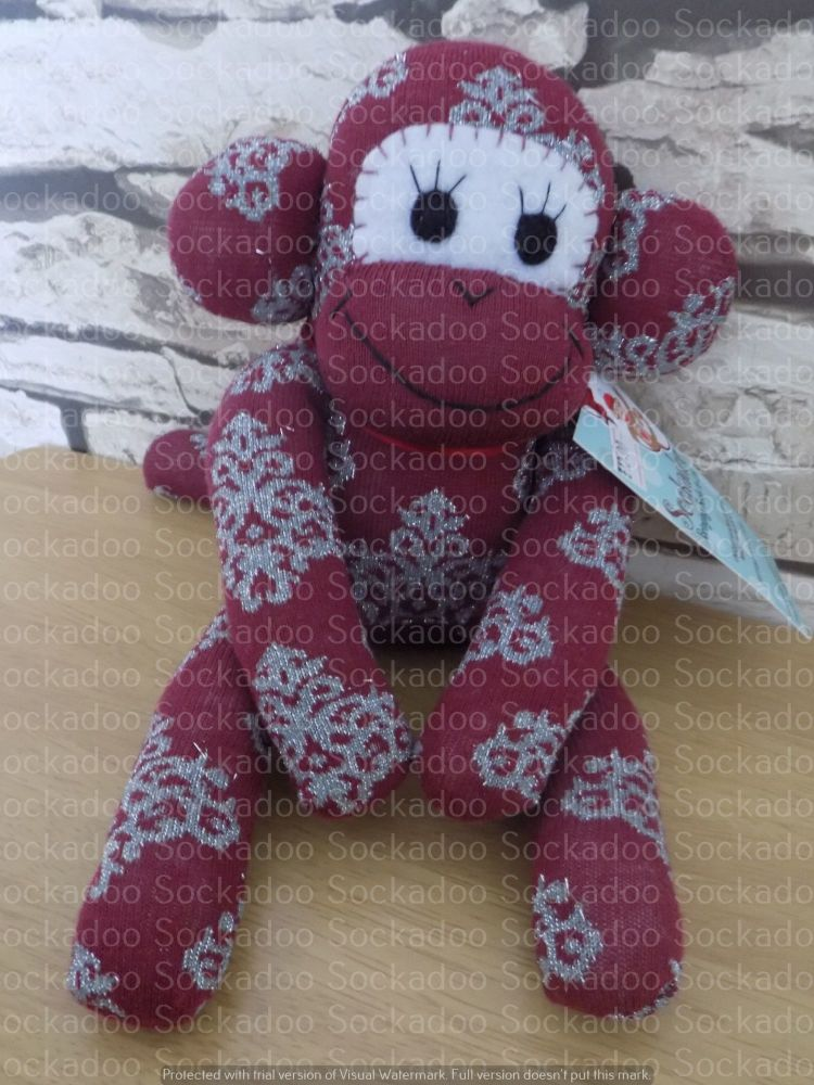 Teal Sock Monkey