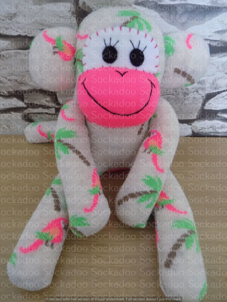 Red Sock Monkey with Lions