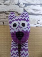 Purple Stripey Sock Cat