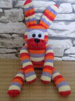 Stripey Sock Bunny/Rabbit