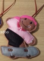 Girl Skateboarder Gingerbread