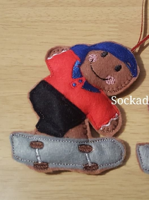 Boy Skateboarder Gingerbread
