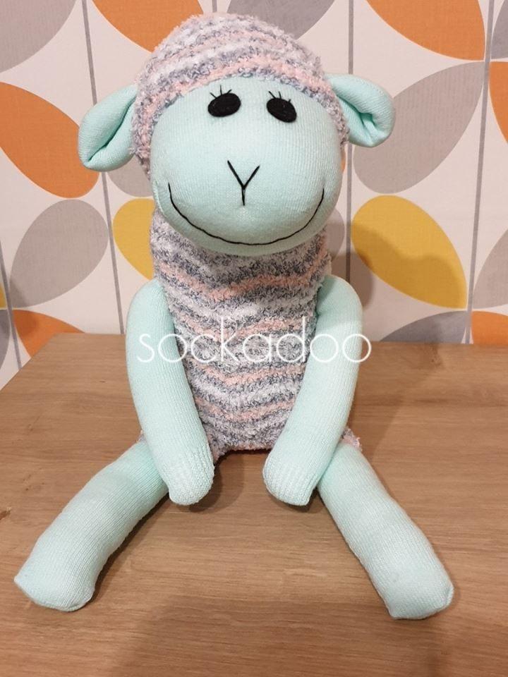 Mint Green Sock Lamb sheep