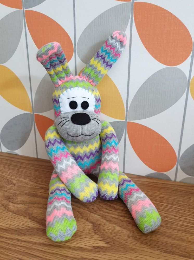ZigZag Stripey Sock Bunny/Rabbit