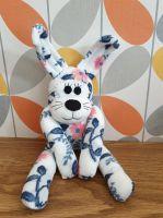 Cream Flower Sock Bunny/Rabbit