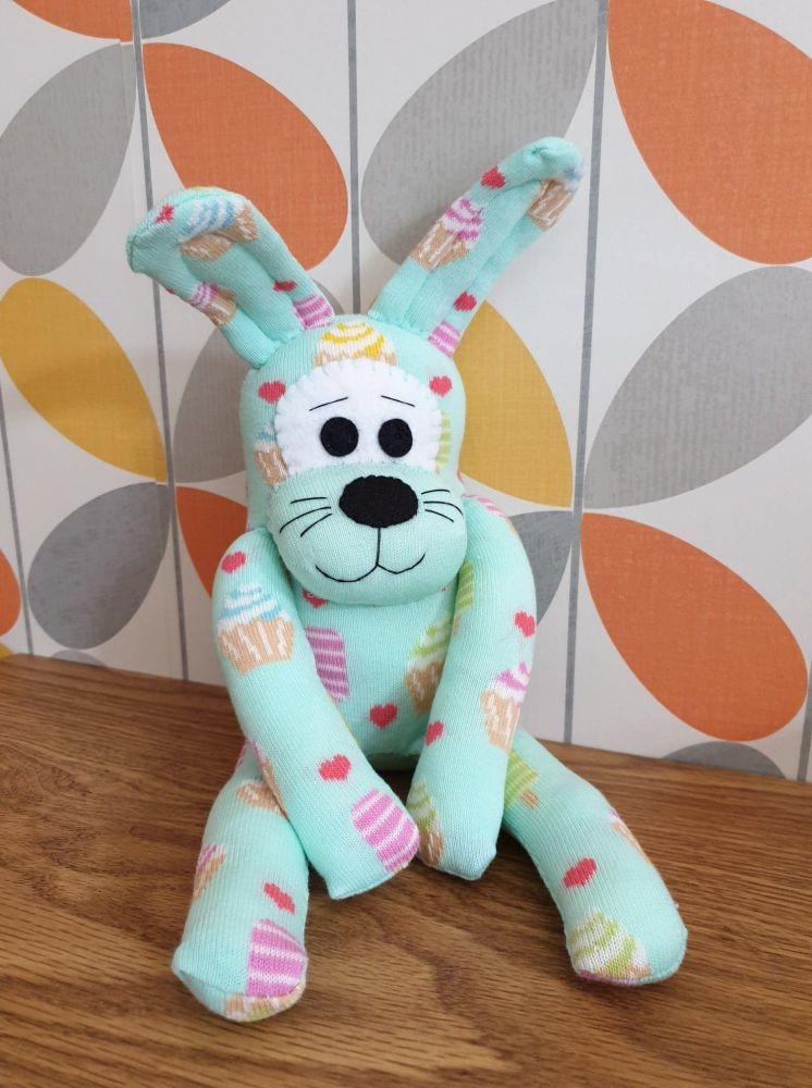Mint Green sweet treats Sock Bunny/Rabbit