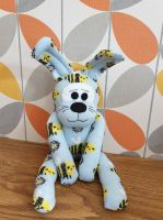 Blue Bumble Bee Sock Bunny/Rabbit