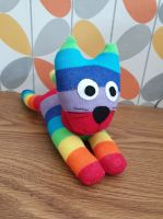 Rainbow Stripe Sock Cat