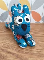 Teal colour Sock Cat
