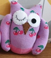 Lilac /Pink Sock Owl Cherry Design
