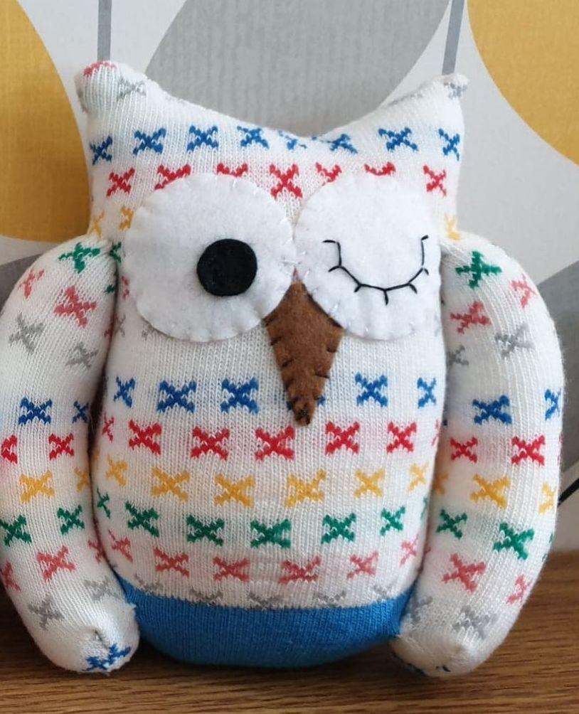 Colourful Sock Owl