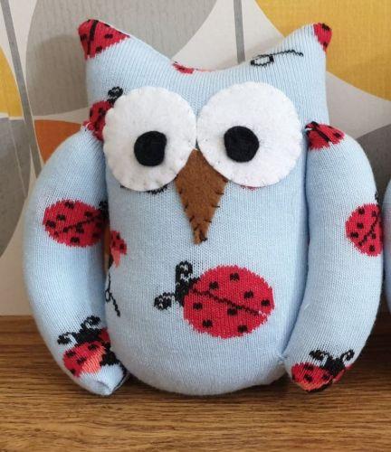 Blue Sock Owl Ladybird Design