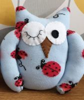 Blue Sock Owl Ladybird Design