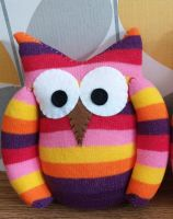 Colourful Striped Sock Owl