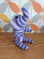 Small Purple Striped Sock Elephant