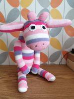 Pink & Lilac Stripey Sock Giraffe