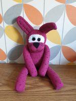 Burgundy dotty Sock Bunny/Rabbit