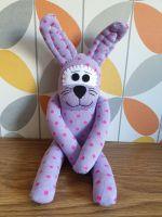 Purple spotty Sock Bunny/Rabbit