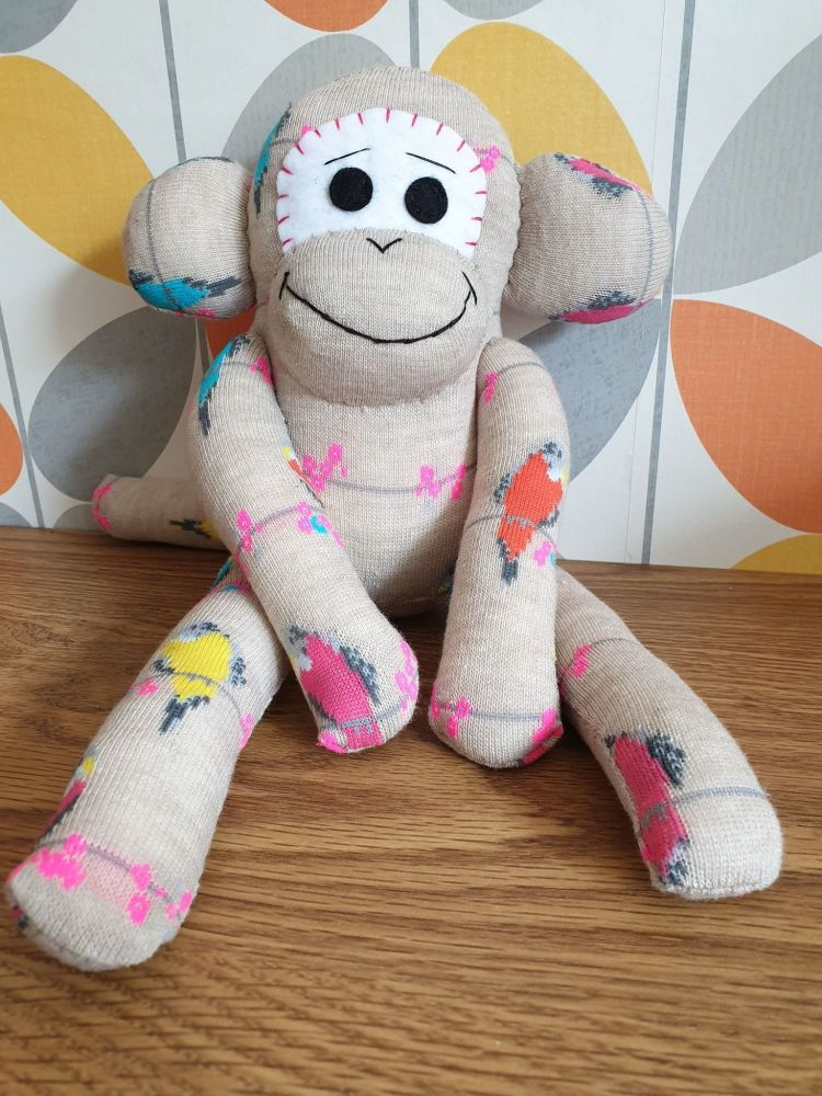 Birds Design Sock Monkey
