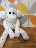 Cream Dotty Sock Monkey