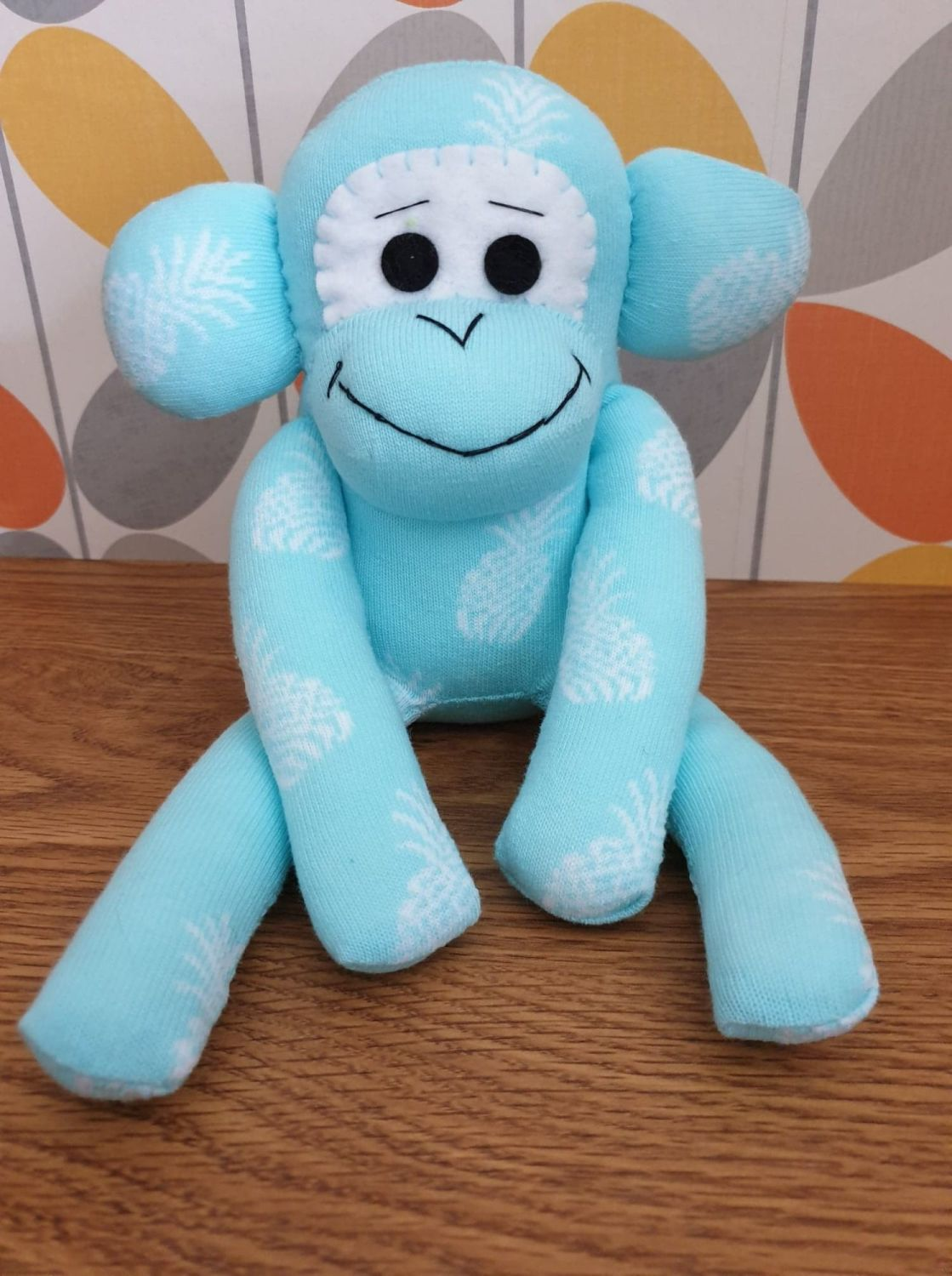 Light Blue Sock Monkey
