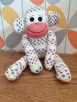 Cream Spotty Sock Monkey