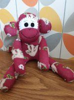 Burgundy Sock Monkey with Sloths