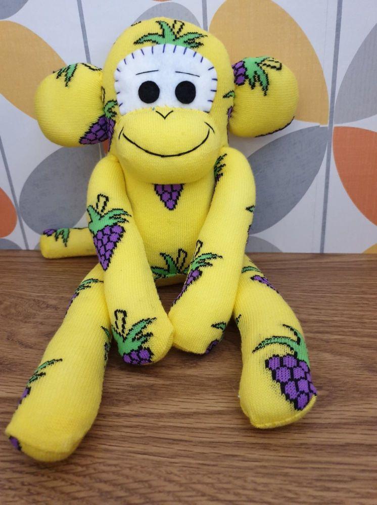 Multi coloured Wavy Stripe Sock Monkey