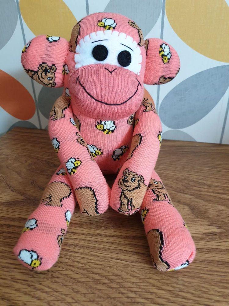 Brown Animal Print Sock Monkey