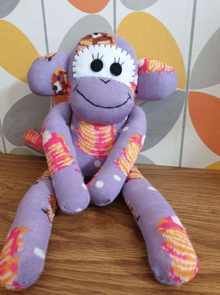 Pancake Lilac Sock Monkey