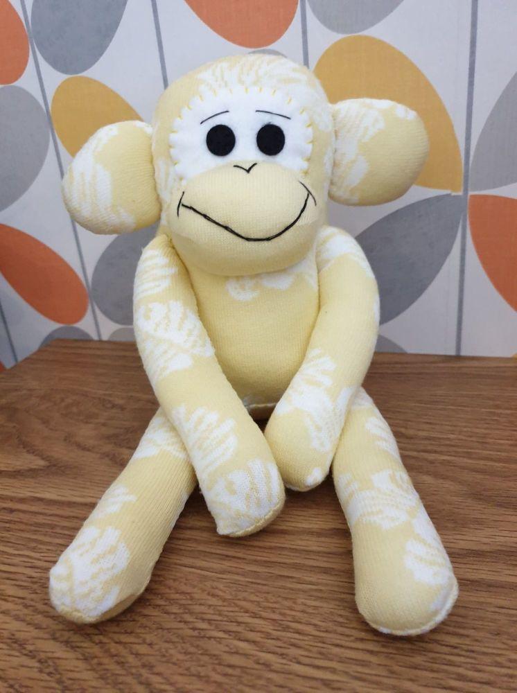 Lemon Sock Monkey with Leaf Design