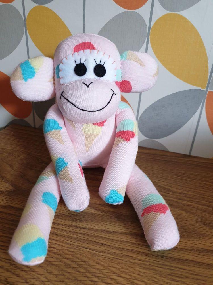 Pink Sock Monkey Ice cream Design