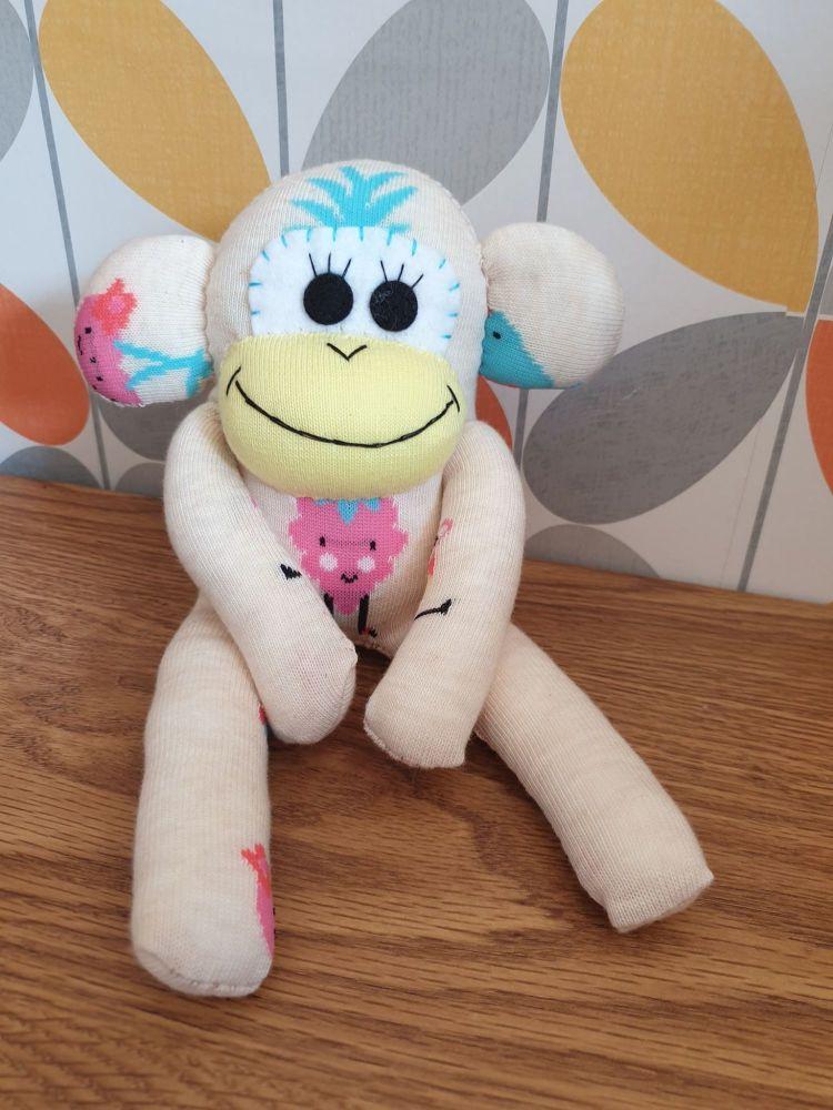 Cream Sock Monkey