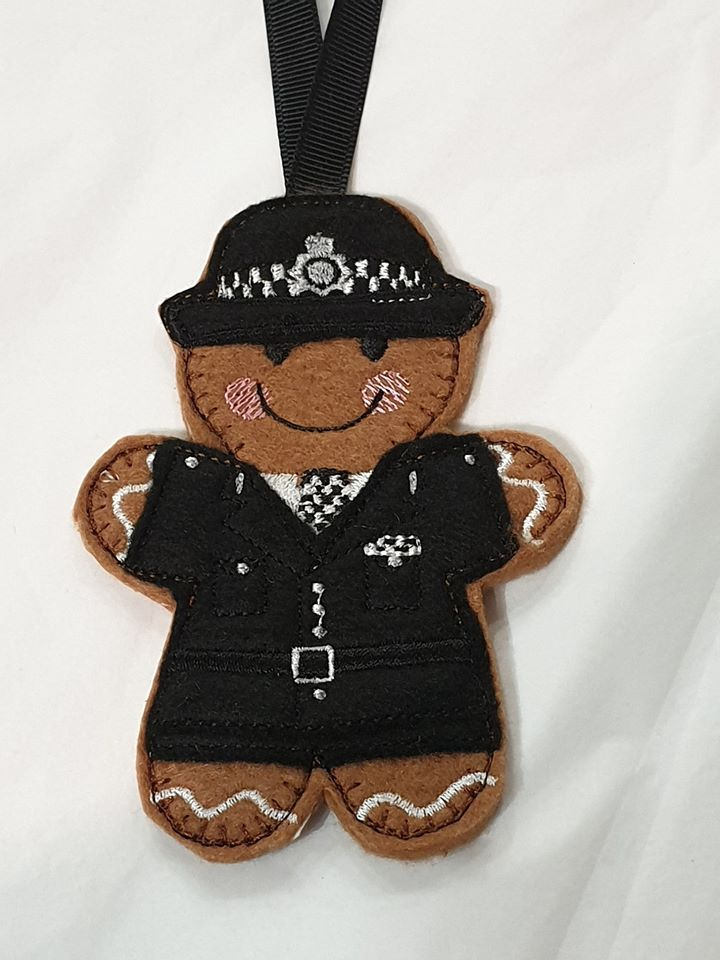 Police Lady/woman Gingerbread