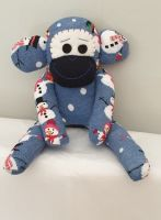 Blue Snowman Sock Monkey