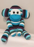 Blue Stripey Monkey