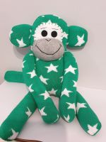 Green Star Sock Monkey