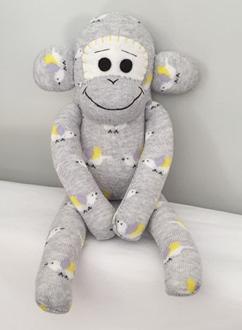 Grey Bird Sock Monkey