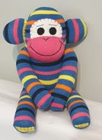Small Striped Sock Monkey