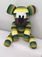 Green Striped Sock Bear