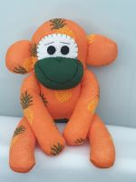 Orange Pineapple Sock Monkey