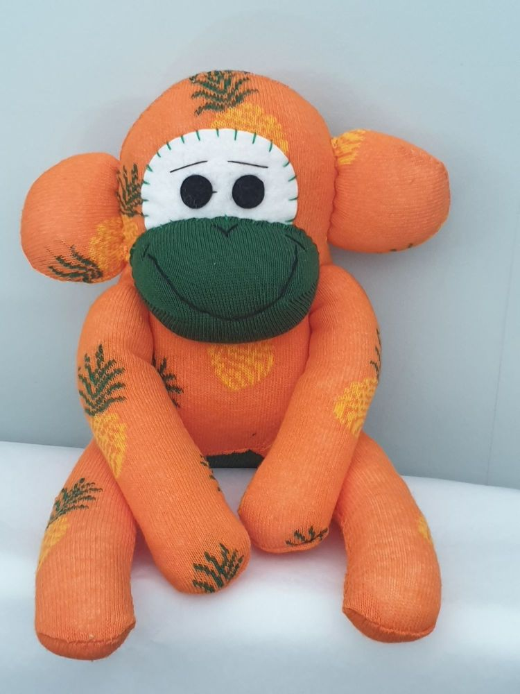 Yellow Aubergine Sock Monkey