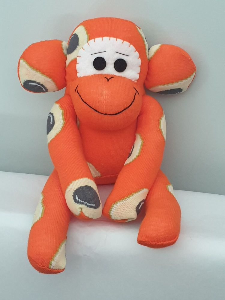 Orange Pineapple Sock Monkey