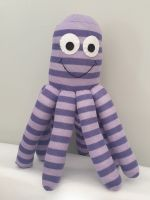Small Lilac Stripy  Coloured Octopus Socktopus