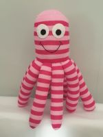 Small Pink Stripy  Coloured Octopus Socktopus