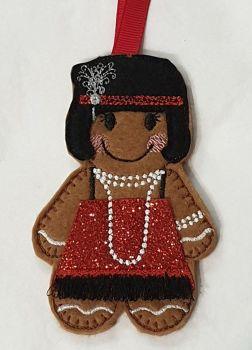 1920's Flapper Girl Gingerbread
