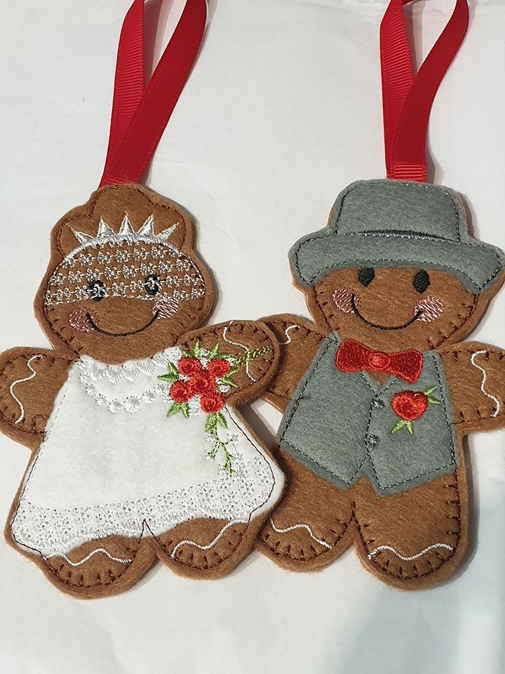 Wedding Couple Bride, Groom Gingerbread